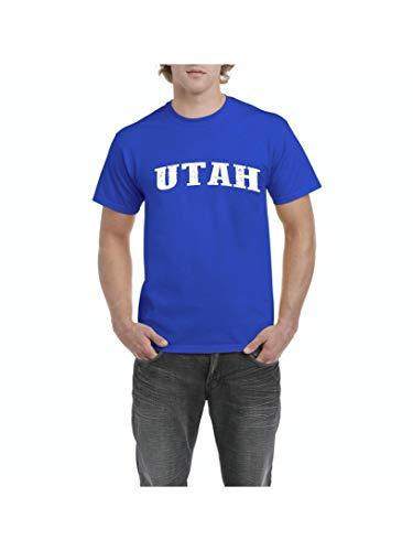 (Utah State Flag Salt Lake City Traveler`s Gift Men's Short Sleeve T-Shirt (LRB) Royal)