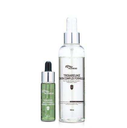 [TROIAREUKE] Healing Cocktail Skin Complex Formula 180ml+Ampoule 20ml (#Green-Anti Trouble) (Pycnogenol Face Toner)