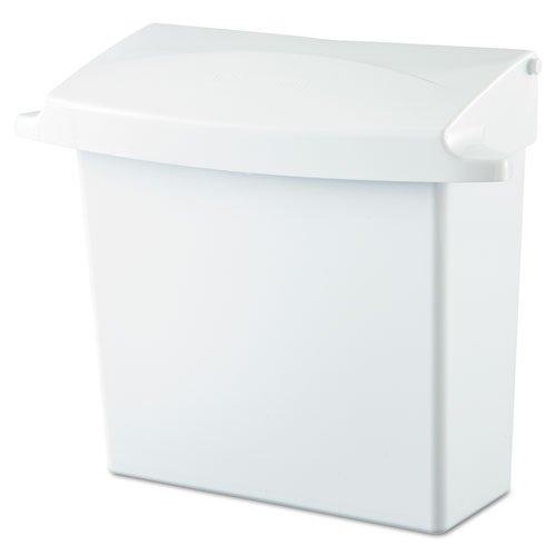 Rubbermaid 614000 Sanitary Napkin Receptacle with Rigid Liner, Rectangular, Plastic, White