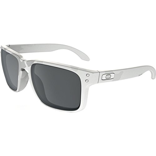 Oakley Mens Holbrook Sunglasses, Multicam Alpine White/Black Iridium, One - Holbrook Blue Oakley Iridium