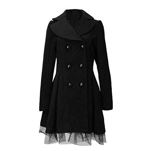 Saoye Fashion Femme Manteau Longues Splicing Long Manches Trench Chic Mince Loisir Revers V
