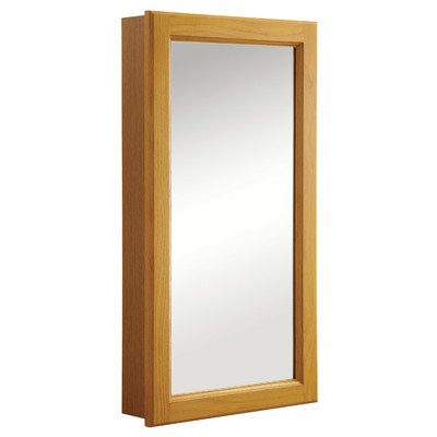 Design House 545269 Claremont Honey Oak Medicine Cabinet Mirror with 1-Door and 2-Shelves, 16-Inches by 30-Inches by Design House