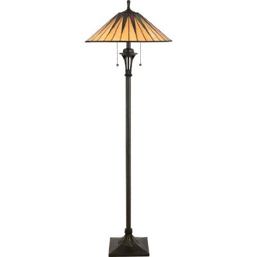 Quoizel TF9397VB 2-Light Gotham Floor Lamp, Medium, Vintage