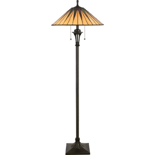 Quoizel TF9397VB Gotham Tiffany Floor Lamp, 2-Light, 200 Watts, Vintage Bronze (62