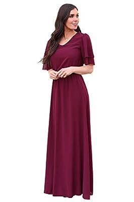 Mikarose Chloe Modest Chiffon Maxi Dress or Modest Bridesmaid Dress