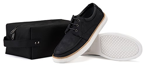 Mio Marino Casual Shoes for Men – Mens Fashion Sneakers – Casual Oxford Shoes – Black – Size US 10 | UK 9.5 | EU 43