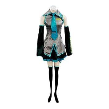 VOCALOID,Hatsune Miku Cosplay Traje, tamaño XL (altura 170-175 cm, peso 55-60 kg)