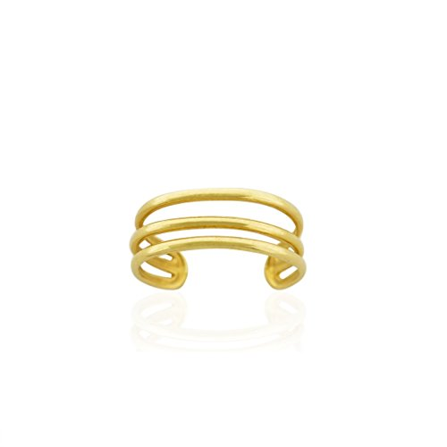 10K Gold Polished Three Wire Toe Ring -