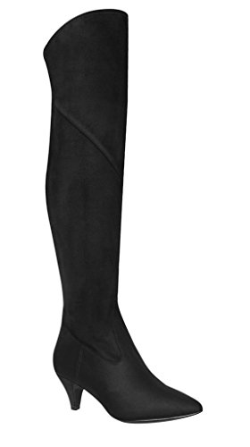 Impo Boot Black Dress Suedy Stretch EDEVA Stretch Faux rOtrS