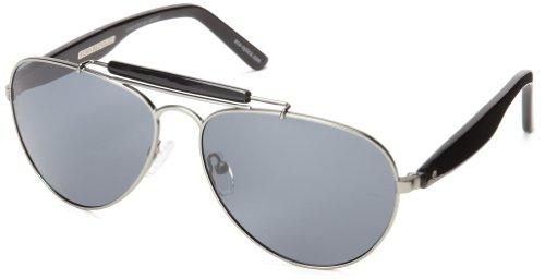 eco Austin Aviator Sunglasses, Gun Metal, 59 mm by EcoPure