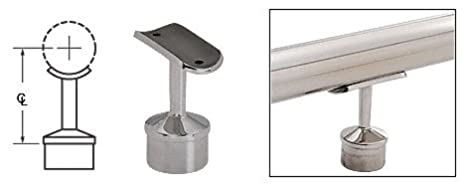 """Brushed Stainless Straight Saddle for 1-1//2/"""" Tubing"""