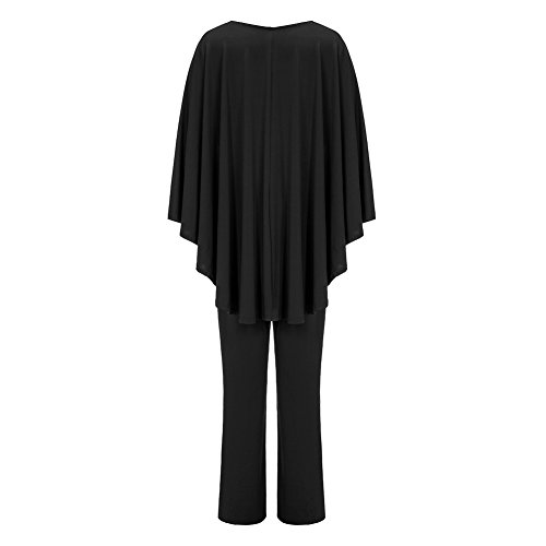 Women's Plus Size Jumpsuit with Attached Flowing Cape in Black by M.Brock (Image #3)