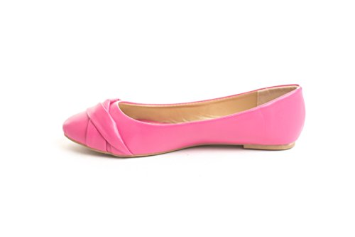 Soho Schoenen Dames Casual Platte Slip Op Ballet Loafers Comfy Flats Us Maat 6-11 Fuchsia