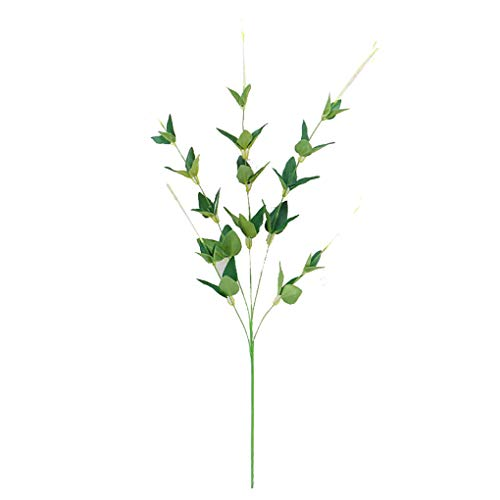 (Arichtop Artificial Grass Leaves Willow Branch Plants Simulation Clematis Honeysuckle Leaf Home Wedding Green Wall Background Decoration)