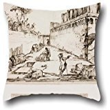 (Oil Painting Giovanni Battista Piranesi - The Tomb Of The Istacidi, Pompeii Throw Pillow Covers ,best For Outdoor,girls,him,relatives,lounge,boy Friend 20 X 20 Inches / 50 By 50 Cm(twin Sides) )