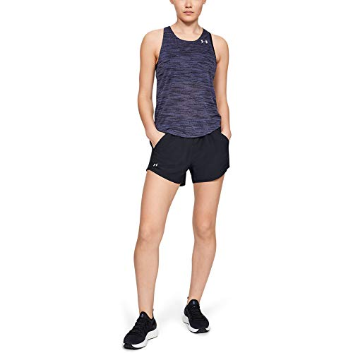 Under Armour Women's Fly By Running Shorts, Black (002)/Reflective, Medium
