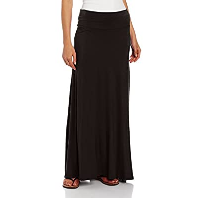 AGB Women's Soft Knit Maxi Skirt (Petite, Standard and Plus Sizes) at Women's Clothing store