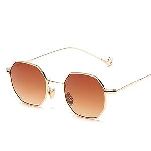 tinted sunglasses women small polygon frame design vintage sunglasses for men Retro,dose