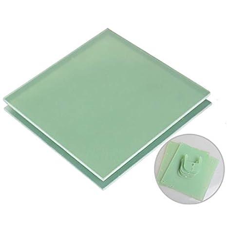 ChenXi Shop Placa aislante de fibra de vidrio de resina epoxi FR4 verde 1 pieza x 200 x 200 mm aprox 1 1x200x200mm