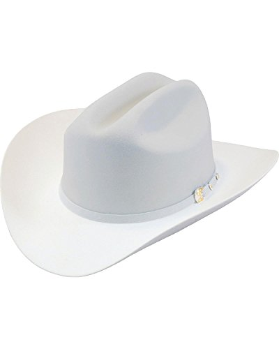 Larry Mahan Men's Platinum The Dos Banderas 6X Cowboy Hat Grey 7 ()