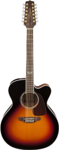 Takamine GJ72CE-12BSB Jumbo Cutaway 12-String Acoustic-Electric Guitar