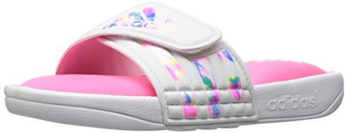 Adidas Running Sandals (adidas Performance Unisex-Kids Adissage Comfort K Sport Sandal, Ftwr White, Solar Pink, Solar Pink, 5 M US Big Kid)