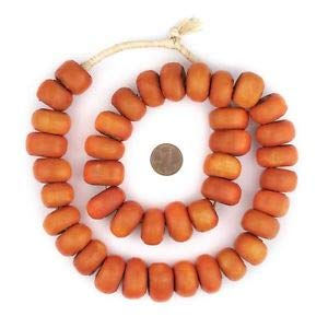 - Kenya Coral Bone Beads Large 23mm African Orange Round Large Hole 26 Inch Strand Crafting Key Chain Bracelet Necklace Jewelry Accessories Pendants