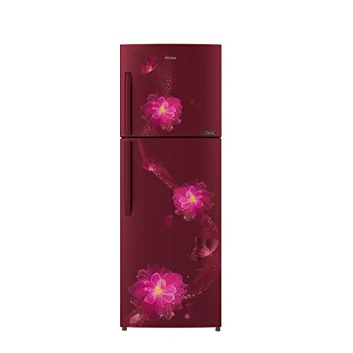 Haier L 3 Star Inverter Frost Free Double Door Refrigerator  HRF 2783CRB E, Red Blossom