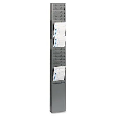Steel Time Card Rack with Fixed 4-1/2'''' x 5'''' Pockets, Sold as 1 Each