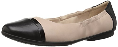 (CLARKS Women's Gracelin Jenny Ballet Flat Nude Pink Leather 110 M)