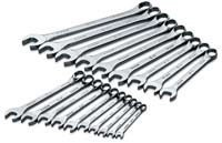 SK 86224 SuperKrome 19 Piece 12 Point 6-Millimeter to 22-Millimeter Combination Wrench Set
