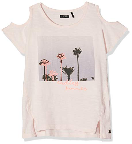 Ikks Pale Pâle Print Denudees Fille Palmiers T rose Rose Shirt Epaules 31 raq4wUr