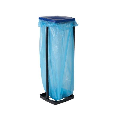 Top Star Müllbeutelhalter mit Deckel, Wertstoffsammler für Müllsäcke bis 120 Liter, Abfallbehälter für die Küche, Garage, oder Keller, 3-fach höhenverstellbar, bis 87 cm, auch für den gelben Sack geeignet, blau oder rot