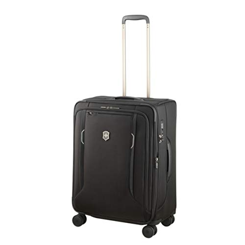 (Victorinox Werks Traveler 6.0 Medium Softside Spinner Suitcase, 24-Inch, Black)