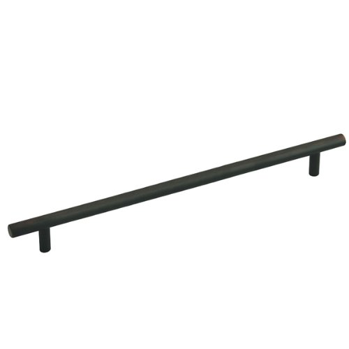 Cosmas 305-320ORB Oil Rubbed Bronze Cabinet Hardware Euro Style Bar Handle Pull - 12-5/8'' (320mm) Hole Centers, 15'' Overall Length