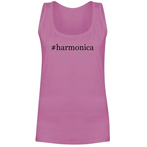 - The Town Butler #Harmonica - A Soft & Comfortable Hashtag Women's Tank Top, Pink, X-Large