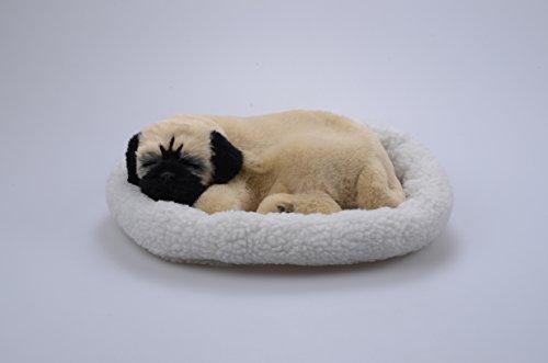 LIBLO -- Lifelike Breathing Sleeping Pug Dog 26x18x10cm with Mat Wydog001 Electronic Pet Dog Toy (Color 2)