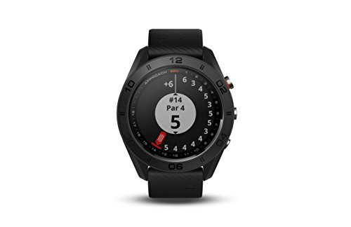 Garmin Approach S60, Premium GPS Golf Watch with Touchscreen Display and Full Color CourseView Mapping, Black w/Silicone Band