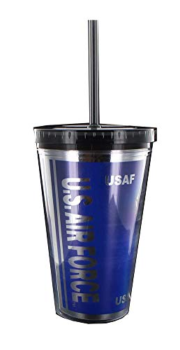 Nerd Block U.S. Air Force USAF 16oz Carnival Cup w/ Straw ()