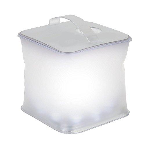 Inflatable Cube Lantern Waterproof Floating Solar-Powered 10 LED