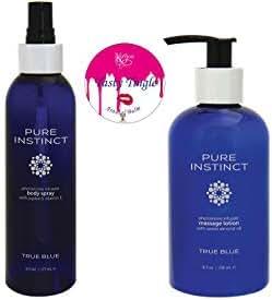 Pure Instinct Gift Set Massage Lotion & Body Mist w/Tasty Tingle Arousal Lip Balm