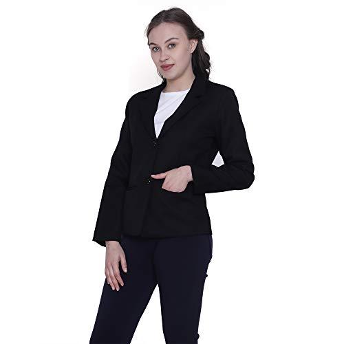 ZX3 Manya World Women's Regular Fit Poly Cotton Formal | Buisness | Official | Interview | Professional | Uniform | Work Wear Blazer
