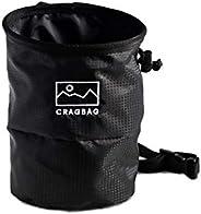 Cragbag Rock Climbing Chalk Bag Made with Lightweight Nylon Material, Belt Strap, Elastic Brush Holder, Carabi