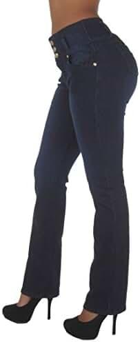 Style N452BT– Colombian Design, Butt Lift, High Waist, Boot Leg Jeans