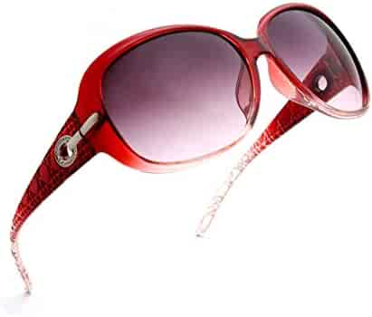 fd643344c4bd ENSARJOE Women's Classic Stylish Designer Oval Retro Sunglasses 100% UV400  Protection