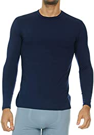 Thermajohn Mens Ultra Soft Thermal Shirt - Compression Baselayer Crew Neck Top – Fleece Lined Long Sleeve Unde