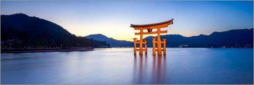 Posterlounge Acrylglasbild 150 x 50 cm  Itsukushima Miyajima Japan von Jan Christopher Becke - Wandbild, Acryl Glasbild, Druck auf Acryl Glas Bild