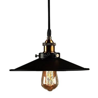 Modern Vintage Industrial Metal Black Loft Bar Ceiling Light Shade Retro Pendant Light
