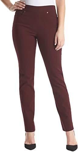 Gloria Vanderbilt Avery Pull-On Straight Leg Jeans