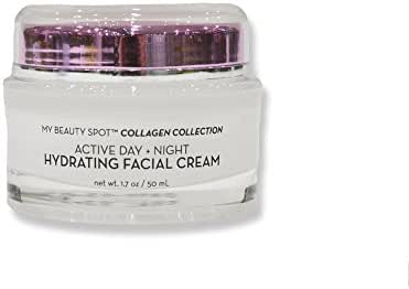 Active Day & Night Hydrating Facial Anti-Aging Cream – Non-Greasy, Fast Absorbing – Anti-Wrinkle, Hydrates, Smooths, Regenerates and Strengthens (Collagen)